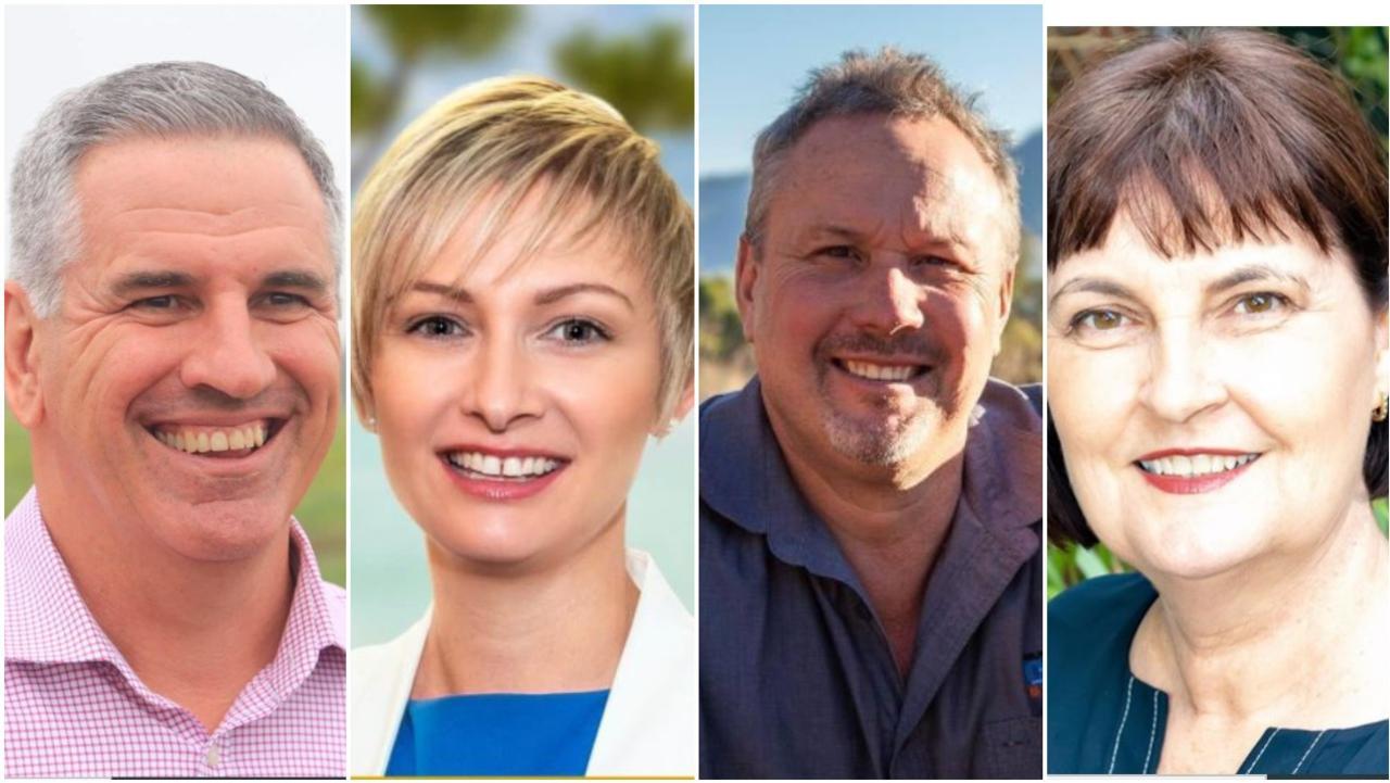 Left to right: Burdekin MP Dale Last, Whitsunday MP Amanda Camm, Mirani MP Stephen Andrew and Mackay MP Julieanne Gilbert.