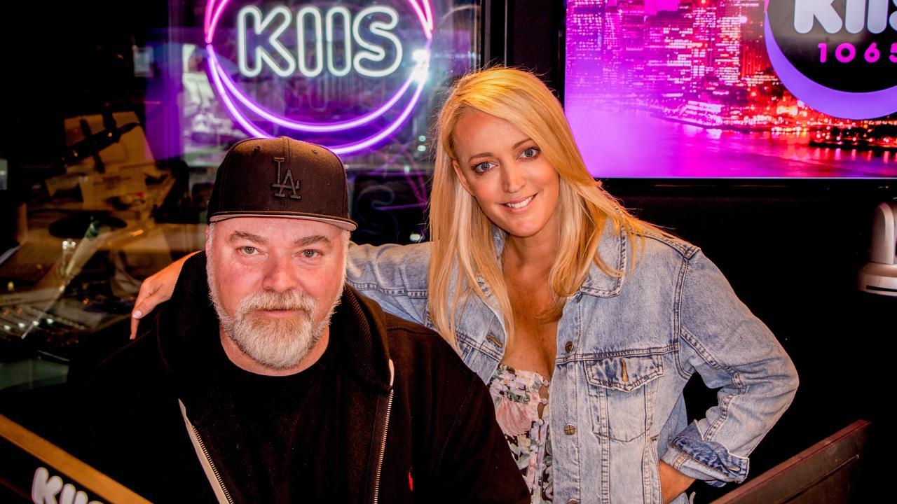 Kyle Sandilands and Jackie O in their KIIS FM studio.