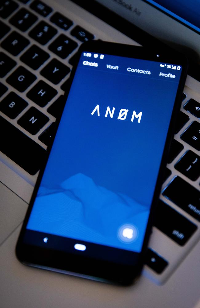 The AN0M app when on the phone bought by a criminal. Picture: Supplied