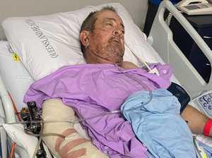 Truckie's head dragged along bitumen in horror rollover