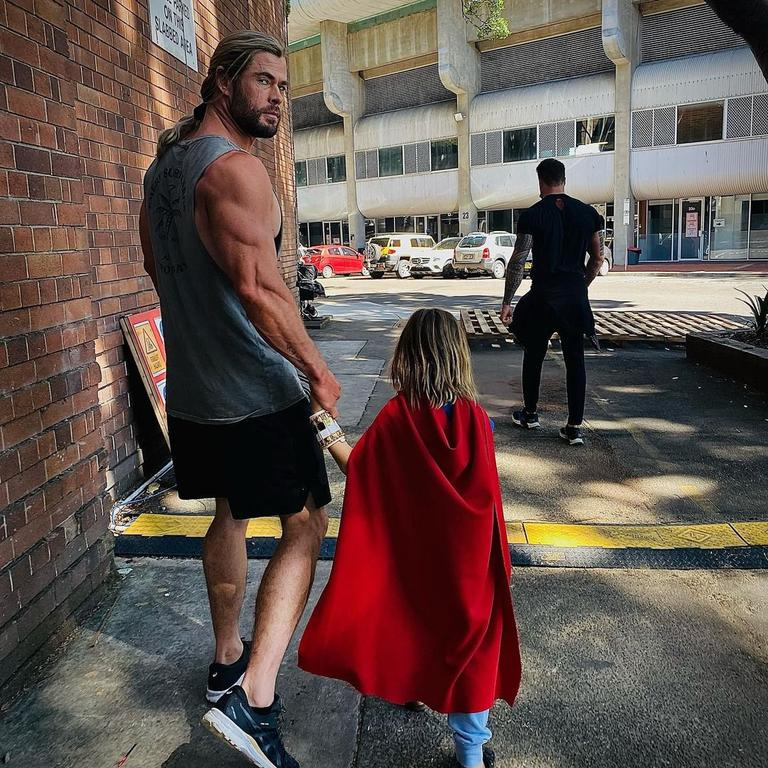 Chris Hemsworth nearly broke the internet last week as fresh images of his bulging biceps on the Thor set flooded social media. Picture: @chrishemsworth/Instagram