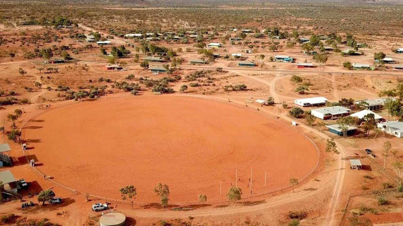The oval upgrade was always going to be a monumental task with the surface made up entirely of clay and covered in small rocks. Picture: Supplied