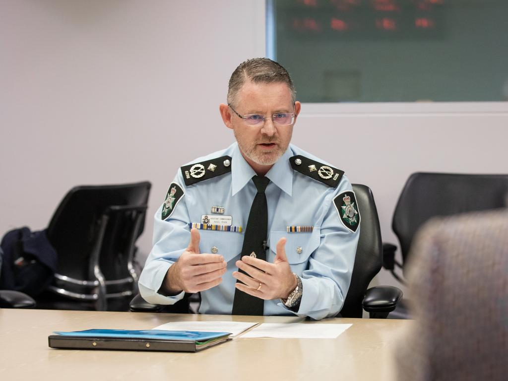 AFP Assistant Commissioner Nigel Ryan says police arrested those involved in criminal activity to prevent acts of violence against innocent victims. Picture: Supplied