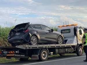 Man injured in three car crash on Peak Downs Highway