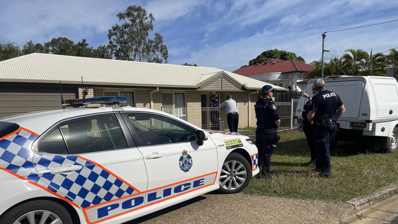 The scene of a fatal dog attack in Milton Street, Maryborough. There is no suggestion of wrongdoing on the part of the people who live at the home.