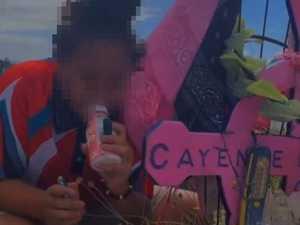 Girl rips bong at fatal crash memorial
