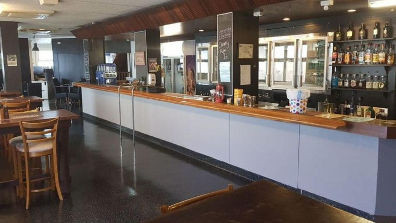 Inside the restaurant area at the Saleyards Hotel.