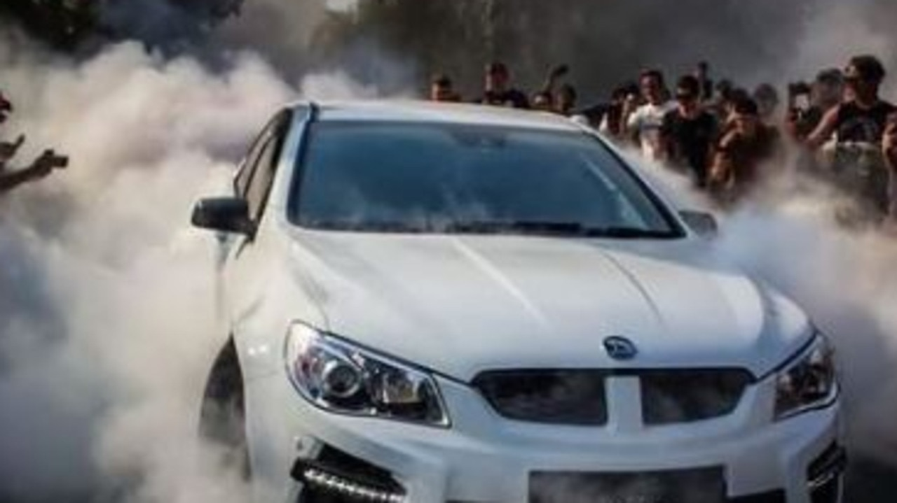Troy Williams, aka Troy Candy, performed the burnout at a car meet in Helensvale in 2019. Picture: Instagram.