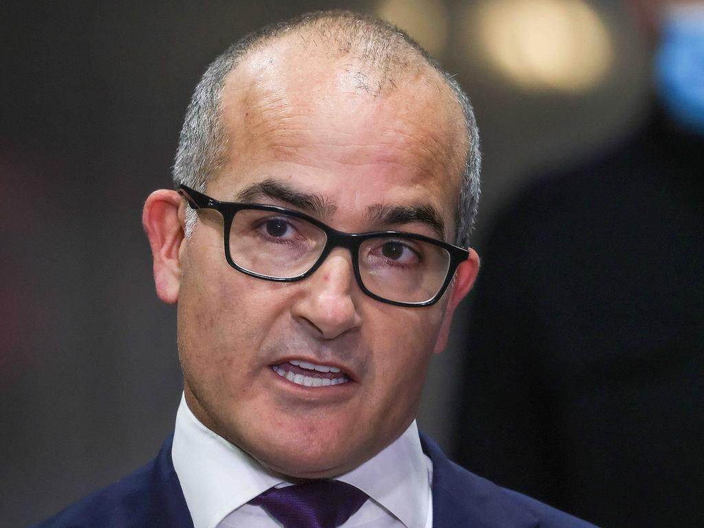 Victorian Acting Premier James Merlino announced the end of Melbourne's lockdown. Picture: NCA NewsWire / Ian Currie