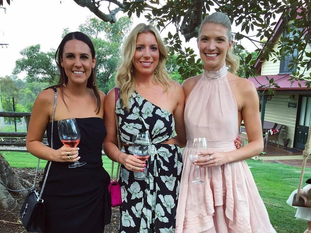 Ms Matulin (centre) was spotted socialising with colleagues in Brisbane recently. Picture: Facebook