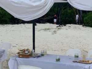 No toilets, 'drowned' food at island bash