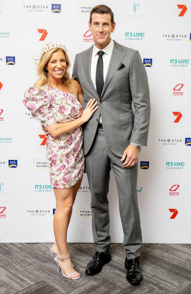 Ms Matulin and Mr Roberts-Smith debuted their relationship at Magic Millions race day. Picture: Luke Marsden