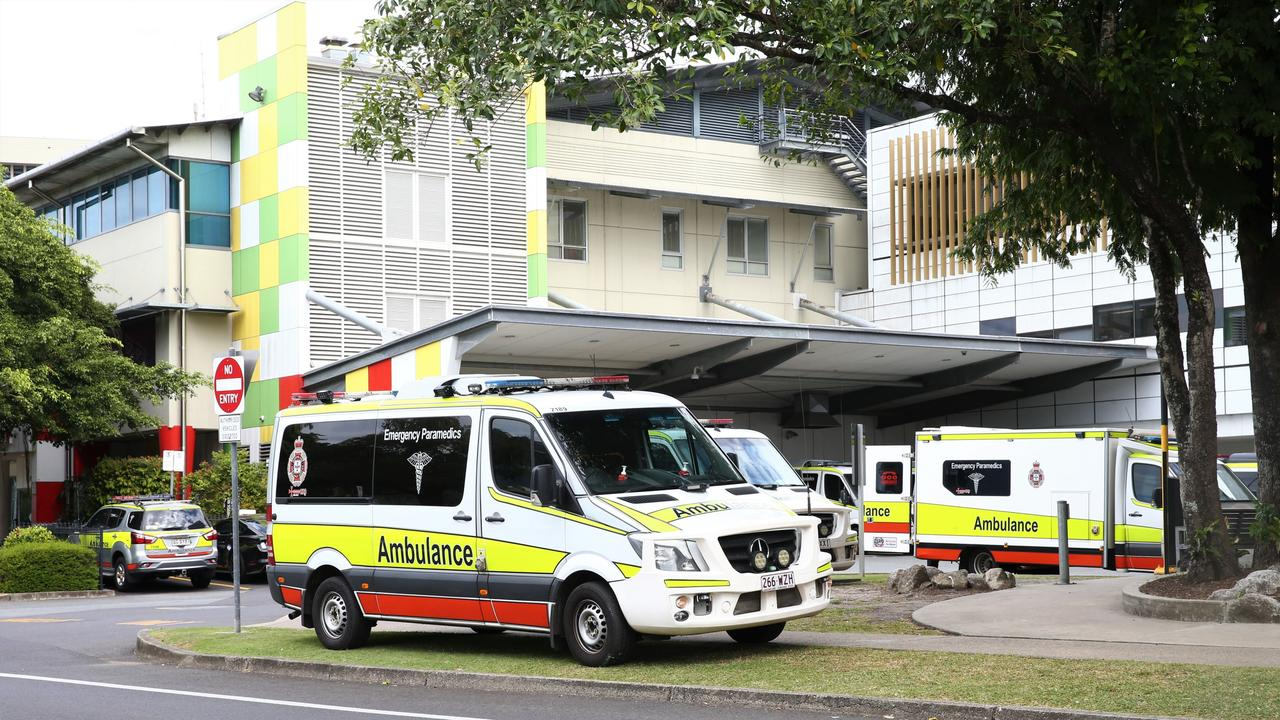 Ramping out the front of the Cairns Hospital emergency department. Picture: Peter Carruthers