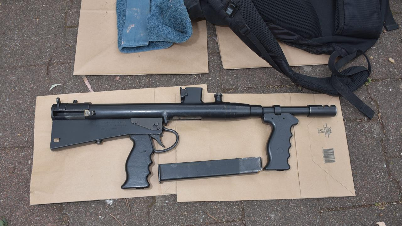 """A """"clever"""" police sting thwarted two alleged Adelaide murder plots, including a planned machine gun attack at a cafe, officials have said. Picture: SA Police"""