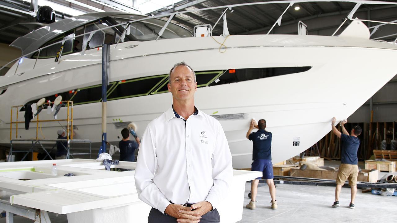 Riviera Australia chairman Rodney Longhurst at the factory in Coomera. Picture: Tertius Pickard