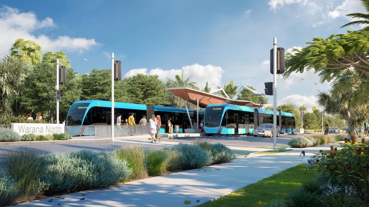 Artist impression show mass transit options imagined at Warana North.