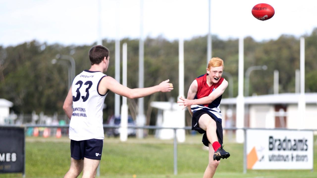 St Andrew's play Mountain Creek in the grand final of the AFLQ Secondary Schools Gala Day at Maroochydore. Picture: St Andrew's Anglican College Facebook