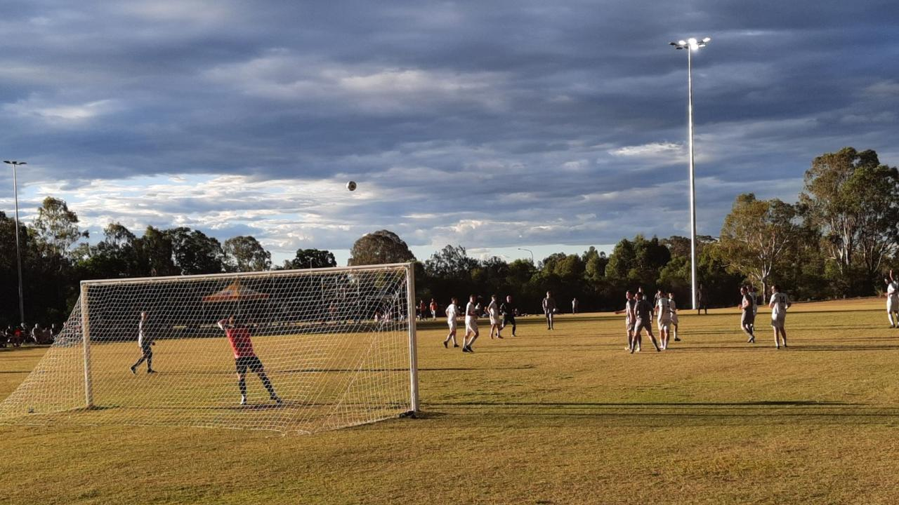 Ripley Valley FC playing at their home ground at Ironbark Park, South Ripley.