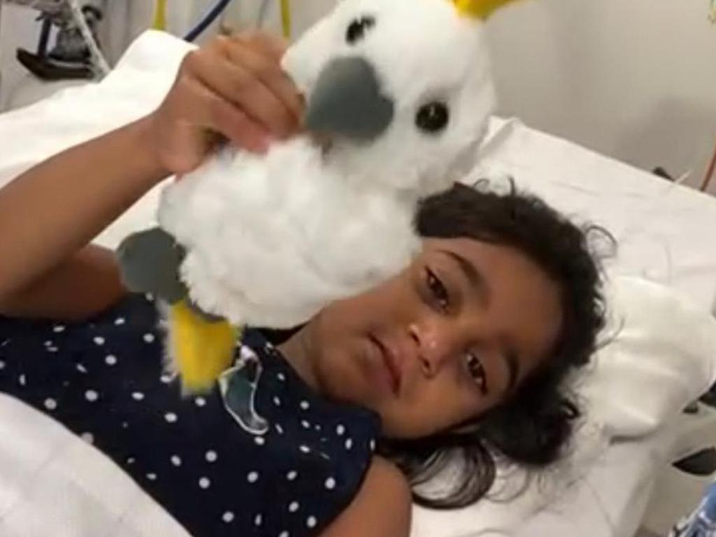Tharnicaa is being treated at Perth Children's Hospital.