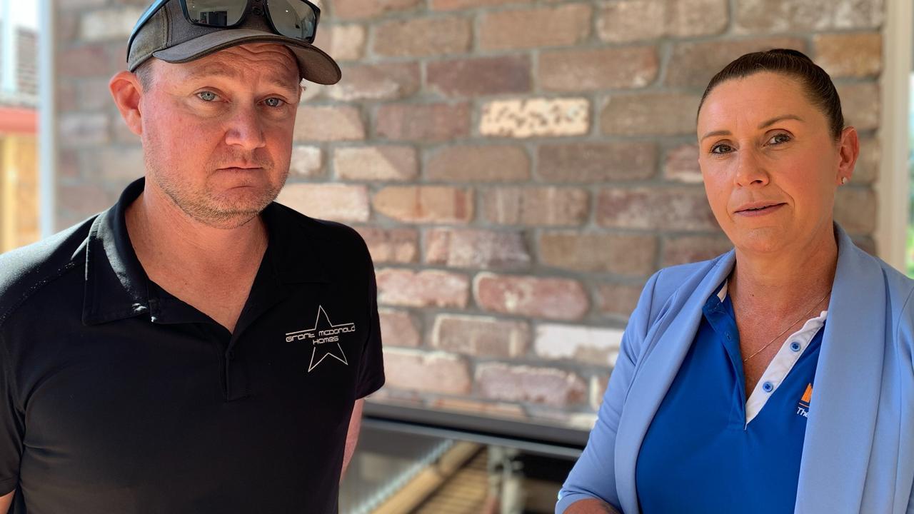Grant McDonald of Grant McDonald Homes with Master Builders Sunshine Coast regional manager Nicola Scott.