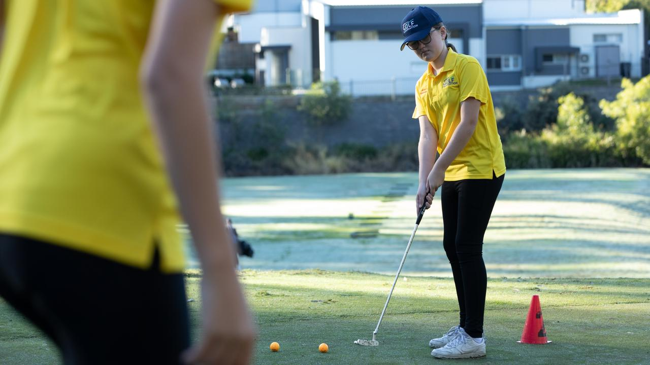 The program aims to inspire more young girls to take up golf.
