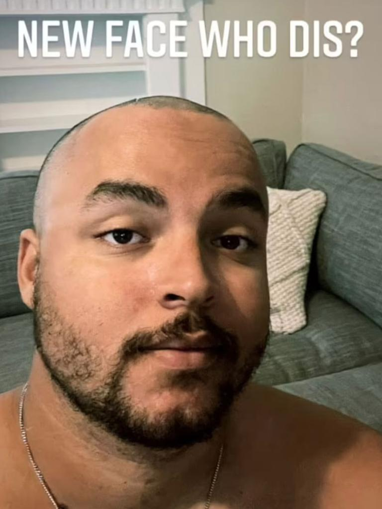 Connor Cruise shared his bold (or bald) new look with followers.