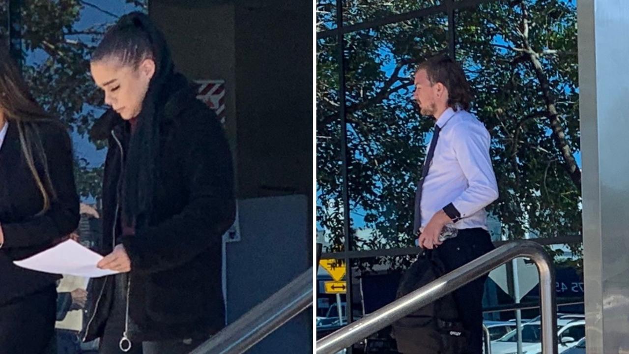 Natasha Rose Gayler and Julian David Jeffrey Blackburn leave court after being sentenced for assault occasioning bodily harm. Pictures: Aisling Brennan