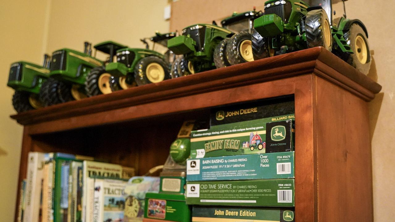 Calen farmer Karinda Anderson is opening The John Deere Love Shack museum. Picture: Heidi Petith