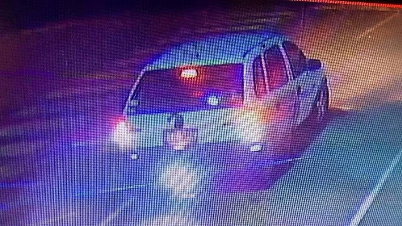 The alleged stolen vehicle used by the suspects.
