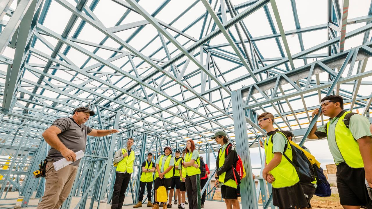 Ipswich school students tried their hand at construction work at Ripley as part of Try'a Trade Day.