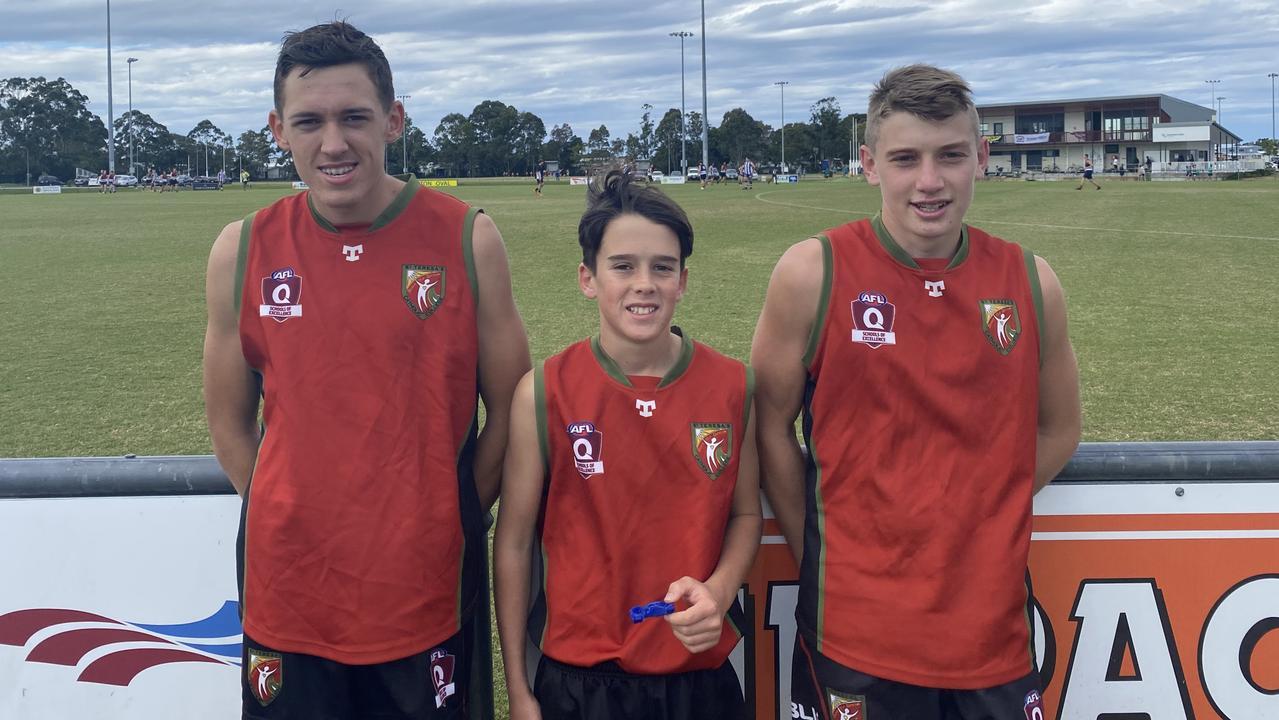 St Teresa's junior boys players Jonty Green, Zion Kendall and Jai Mure.