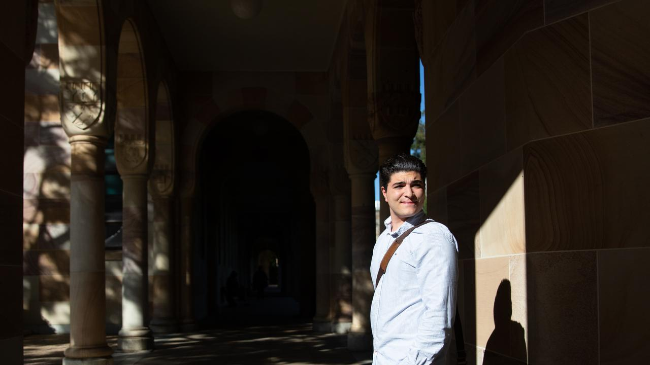 Drew Pavlou was looking for direction as a young student. Picture: David Kelly.