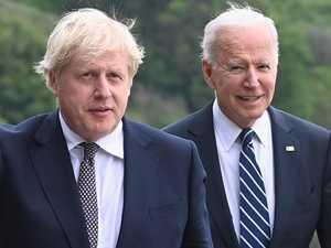 Biden, Johnson meet amid Trump gaffe