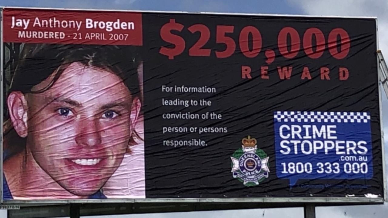 Police are hoping the creation of a billboard on the Bruce Highway at Cannonvale will help solve the murder of Jay Brogden in 2007.