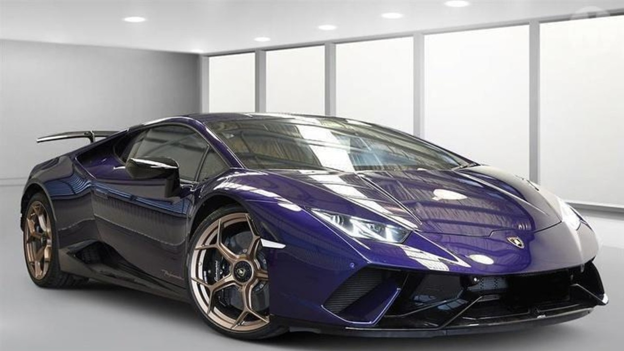 Queensland Police have confiscated a rare Lamborghini Huracan Performante.