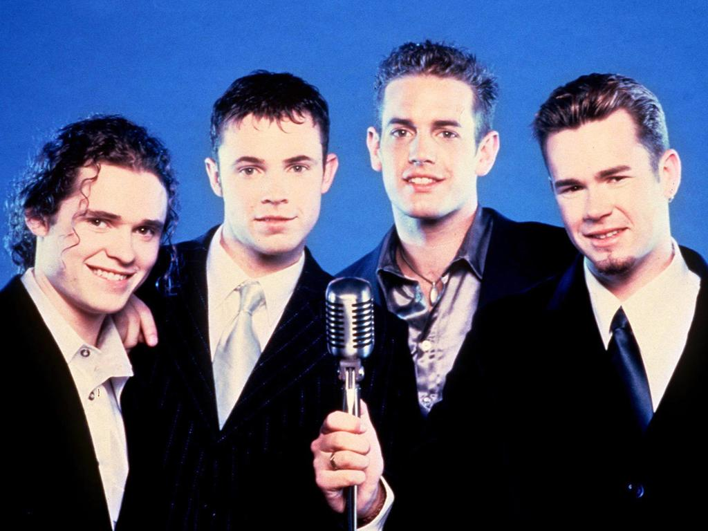 Human Nature (from left), Michael Tierney, brother Andrew, Toby Allen and Phil Burton. in 1997.