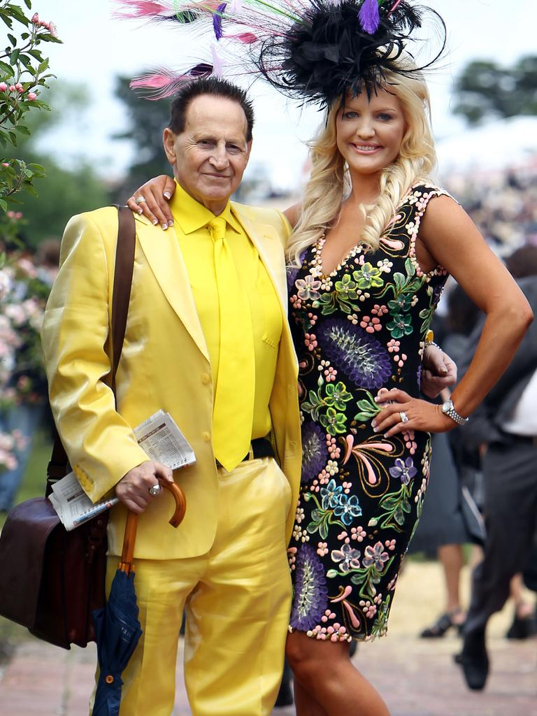 Geoffrey and Brynne Edelsten at the Melbourne Cup in 2010.