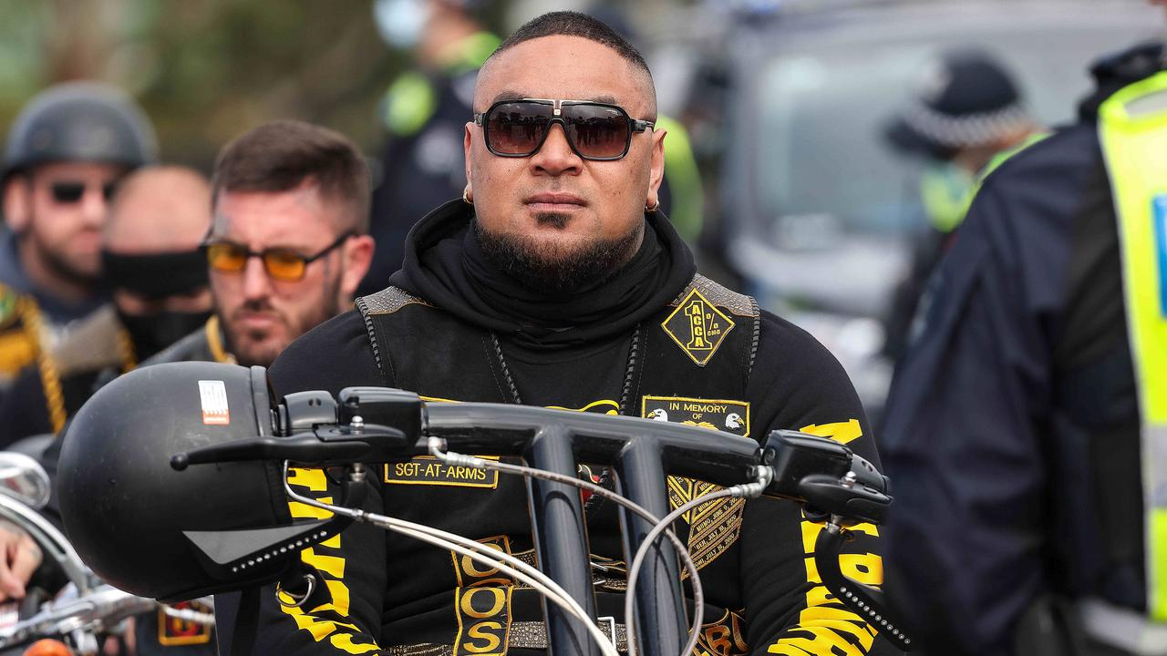A Comanchero Sgt-at-Arms has been swept up in the nation's biggest organised crime sting as other bikies sweat on covert messages.