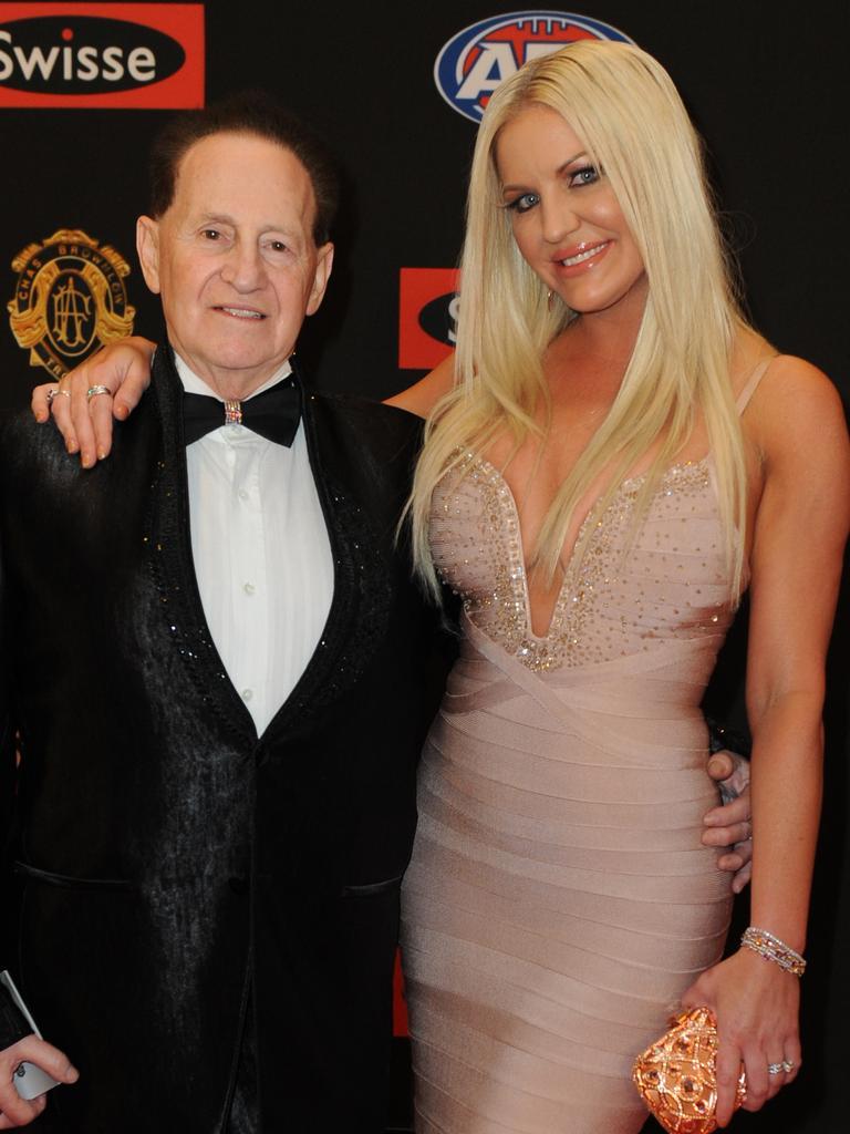 Geoffrey Edelsten with Brynne Edelsten.