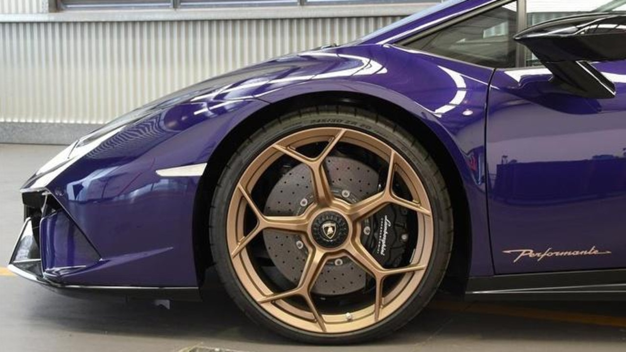 A rare customised Lamborghini Huracan is going to public auction in Australia as the result of tough anti-hooning laws.
