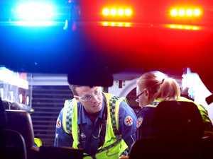 Two men in hospital after crashing over embankment