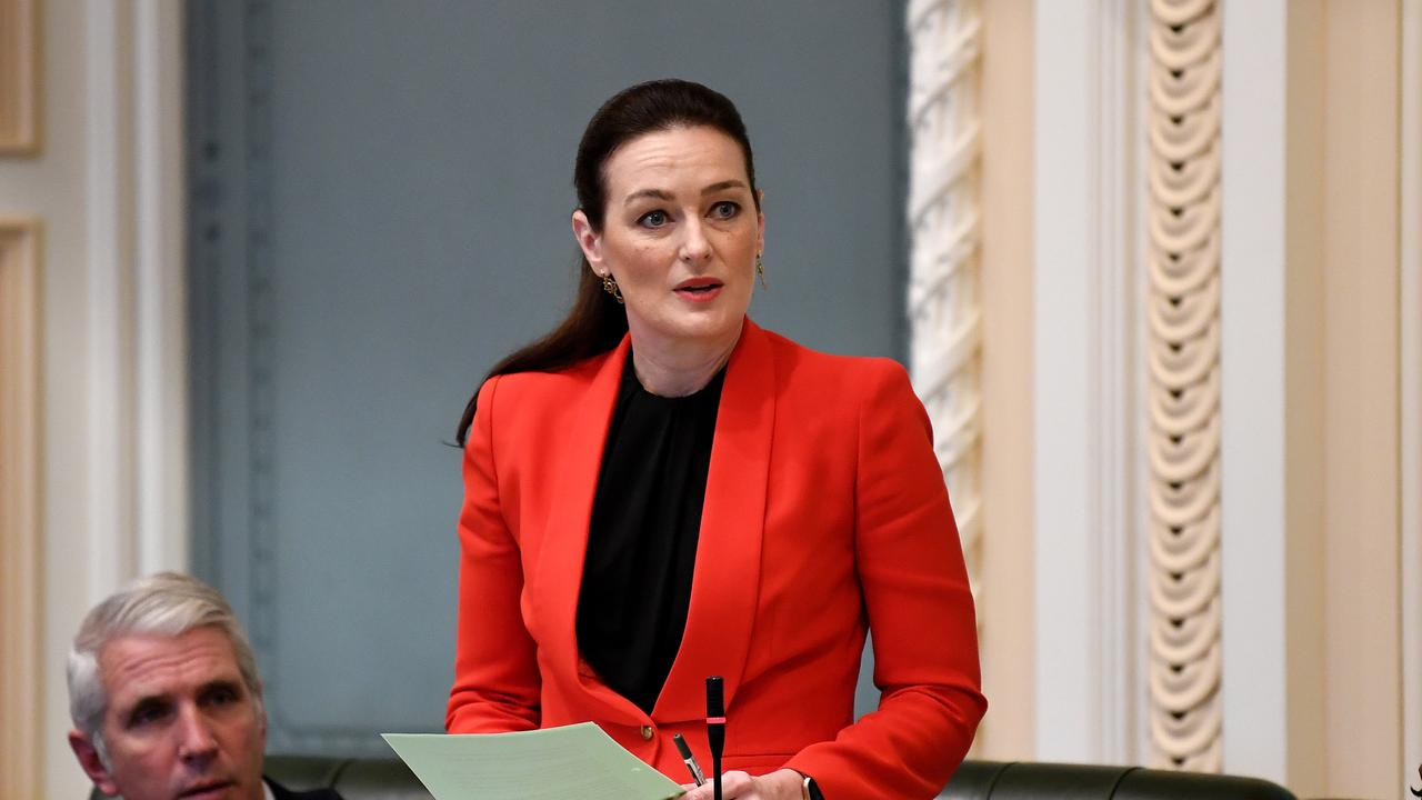 Queensland Minister for Children and Youth Justice Leanne Linard at Parliament House. Picture: NCA NewsWire / Dan Peled