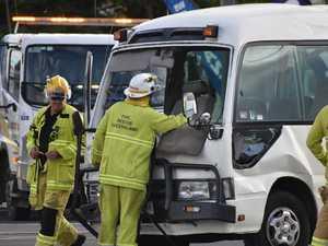 Update: 10 assessed at scene of school bus and van crash