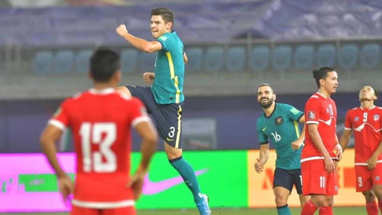 Socceroos defeated Nepal overnight 3-0.