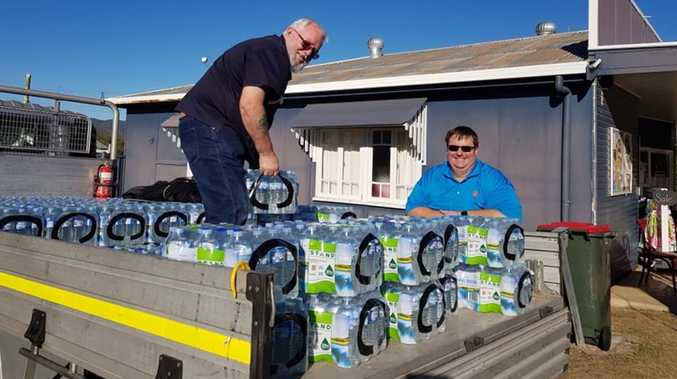 Salvation Army Gladstone deliver water out west