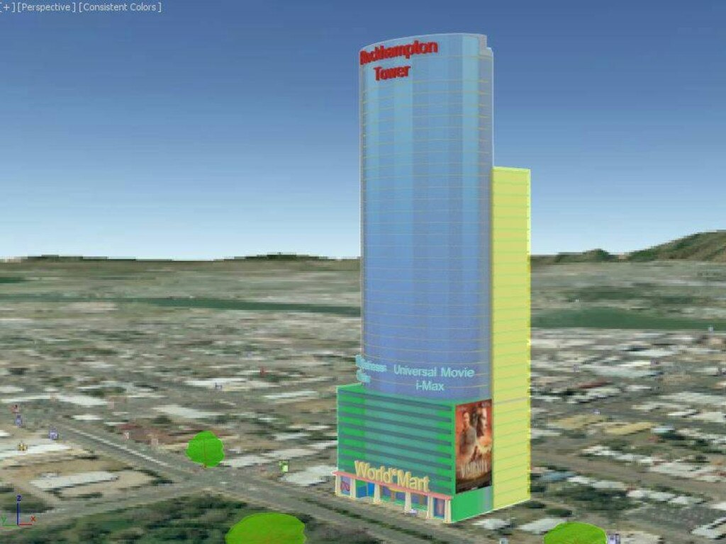 3D images of the 36-storey