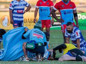 Serious injury concern ends A-Grade match early