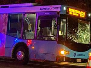 Man injured in 'serious' bus and pedestrian incident