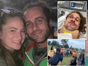 'We're all on edge': Wife speaks after horror footy fight