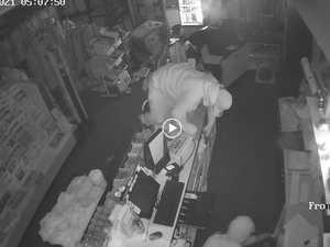 CCTV captures pair's damaging rampage on Mackay businesses